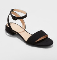 A New Day Women's Winona Open Toe Ankle Strap Dress Sandal with Heel, Black