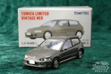 [TOMICA LIMITED VINTAGE NEO LV-N48f 1/64] HONDA CIVIC SiR-2 (Gray)