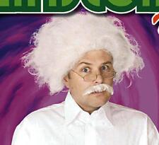 White Mad Scientist Wig Albert Einstein Professor Halloween Fancy Dress
