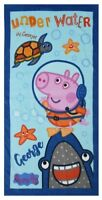 """NEW Official George Pig """"Under Water"""" Character 100% Cotton Beach Towel"""