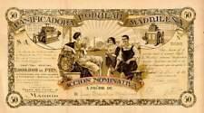 1916 MADRID *PANIFICADORA  POPULAR   AZIONE D'EPOCA STORICA ED AUTENTICA