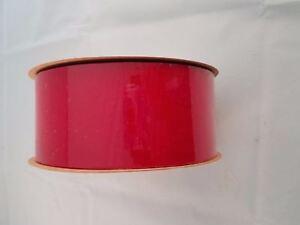 "100 Yd Roll Red Berry Burgundy Velvet Outdoor Ribbon 2.5"" wide Lion Embassy #40"