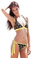 Summer '14 Batgirl Halter Tie Low Dc Comics Batman Bikini Bathing Suit Swimwear