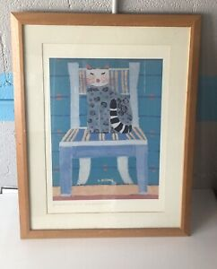 """Laura Fiume Large Format Signed Litho """"Compeano de Licia"""" Framed & Matted ≈32x24"""