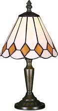 STYLE TIFFANY UNIQUES VERRE TEINTÉ LAMPE BUREAU TABLE - 6.29'' LARGE
