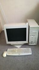 More details for retro gaming dell dimension 4100 pc system with original 19inch crt monitor