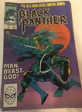 Black Panther Limited Series #4 (1988)   Newsstand Edition  Last issue