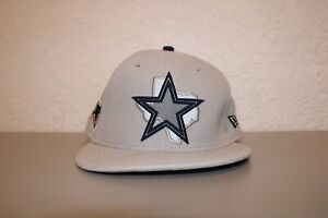 New Era Dallas Cowboys NFL Silver Texas State Hat One Size Fits All