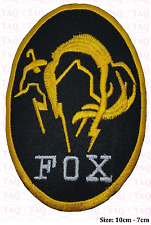 Metal Gear Solid Kojima Foxhound Fox Hound Embroidered Iron on PATCH #062