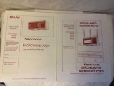 Sears Kenmore Microwave Oven Use Care Manual and Installation Stock #89755 89855