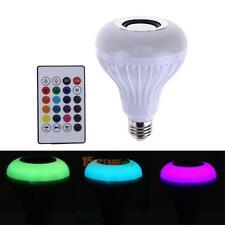Intelligent E27 LED White + RGB Light Ball Bulb Colorful Lamp Smart Music