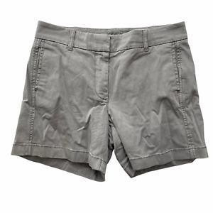 "J. Crew Women's Size 4 Gray Chino 5"" Shorts  Cotton 9.5"" Raise"