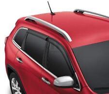 14-18 Jeep Cherokee Side Window Air Deflectors Tinted Factory Mopar OEM New