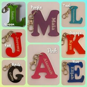 Acrylic Letter Personalised Key Ring School Bag Tag Bag Tag Lobster Clip Keyring