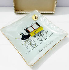 Vintage Retro Chance Glass Trinket Tray Dish Vehicle Private Omnibus