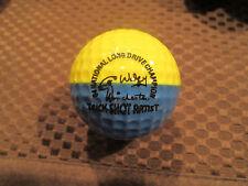 PING GOLF BALL/S-MEDIUM BLUE/YELLOW PING #1..7.5/10...LONG DRIVE-TRICK SHOT LOGO