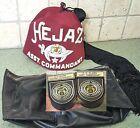 HEJAZ FEZ HAT ASST. COMMANDANT RED FEZ Hat Cap w/Bag SHRINER Rhinestones Vtg