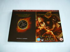 THE HUNGER GAMES SPECIAL EDITION 2 DISC DVD Set & MOCKINGJAY Pendant (NECKLACE)