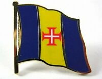 Madeira Flaggen Pin Anstecker,1,5 cm,Neu mit Druckverschluss