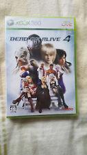 Dead Or Alive 4 XBOX 360 NTSC/(J)apan New neu ORIGINAL versiegelt