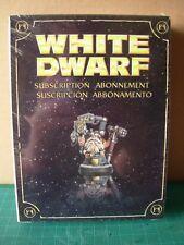 Limited Edition Warhammer 40k Space Dwarf  White Dwarf Subscription 2010 Rare