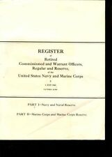USA:Com.a.Warrent Officers Navy a.USMC 1968