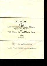 USA:Com.a.Warrent Officers Navy a.USMC 1968