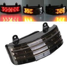 Tri-Bar Fender Smoke LED Tail Brake Turn Signal Light for Harley Touring FLTR