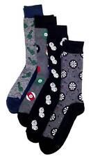 $45 Club Room Mens 4 Pair Pack Casual Dress Gray Black Dice Crew Socks Shoe 7-12