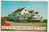 Unused Postcard Home of Late Ambassador Joseph Kennedy Cape Cod Massachusetts MA