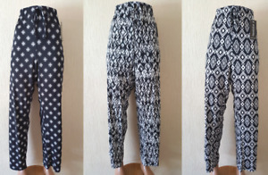 NEW LADIES STRAIGHT CUT SLINKY FLORAL POLKA TROUSERS PLUS SIZE 10-24 MADE IN UK