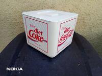 Eisbehälter Plastikdose diet-coke Coca-Cola  20 x20 cm 80er/90er Werbedose coke