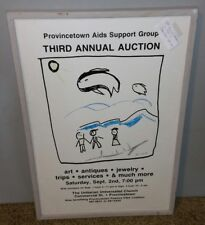 Provincetown AIDS Support Group 1988 3rd Annual Auction Poster Jean Kent Framed