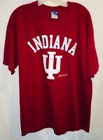 University of Indiana T-SHIRT HOOSIERS FOOTBALL BASKETBALL Red Size XLarge