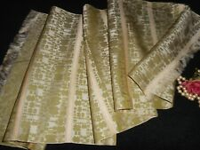Silk Scarf Green Orange Gold 12 x 42 Usa