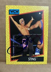 "Tommy ""Wild Fire"" Rich #96 1991 WCW Autographed Signed Wrestling Card WF WWF WWE"