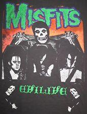 MISFITS Rare Vintage 1980's Evilive Shirt Samhain Danzig Necros Black Flag