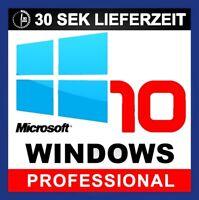 Microsoft Windows 10 Professional 32/64 Bit Product-Key MS Win 10 Pro Sofort