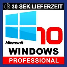 Microsoft Windows 10 Professional 32/64 Bit Product-Key MS Win 10 Pro Sofort