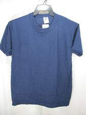 Kids Clothing Crew Neck Top SS T-Shirt Cotton NuBlend YOUTH Med Navy Russell NWT