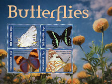 Gambia 2014 MNH Butterflies I 4v M/S Insects Swallowtail Forester Flowers Stamps
