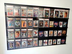✺New✺ Graded Card WALL DISPLAY 44 Slabs - PSA BGS SGC CGA NBA 10 100 9.5 9 Case