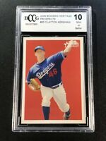 CLAYTON KERSHAW 2006 BOWMAN HERITAGE #85 PROSPECTS ROOKIE RC BGS BCCG GRADED 10