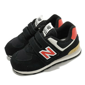 New Balance 574 Wide Black Red White TD Toddler Infant Baby Shoes IV574ML2 W