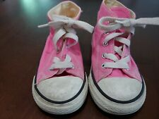 Converse Girl Toddler All Star Sneakers Size 9 Pink High Cut Used