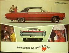 1967 Plymouth Fury I II III Sport VIP Wagon Original Color Dealer Sales Brochure