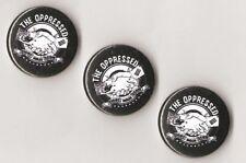1x The Oppressed Fight the naziscum Button RASH SHARP Oi Skinhead Punk Antifa