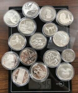 Silbermünzen Meisten 925erPP Anlagemünzen circa 540g Mit Kapseln Investment Lot