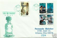 EASTER ISLAND & ANTARCTIC, VERY NICE COVER TO USA,
