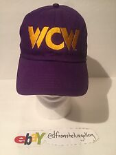 CLASSIC WRESTLING VINTAGE PURPLE YELLOW WCW ADJUSTABLE DAD HAT wwf wwe nwo rock
